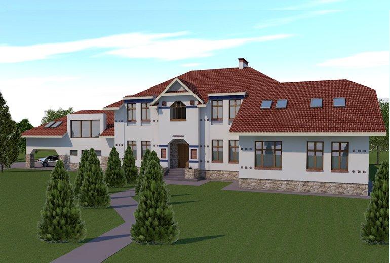 Проект житлового будинку на 2 сім'ї