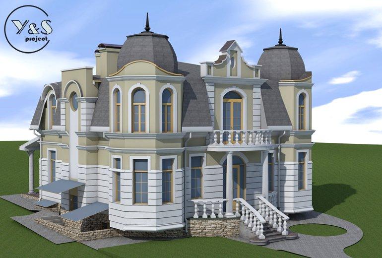 Класичний будинок із баштами