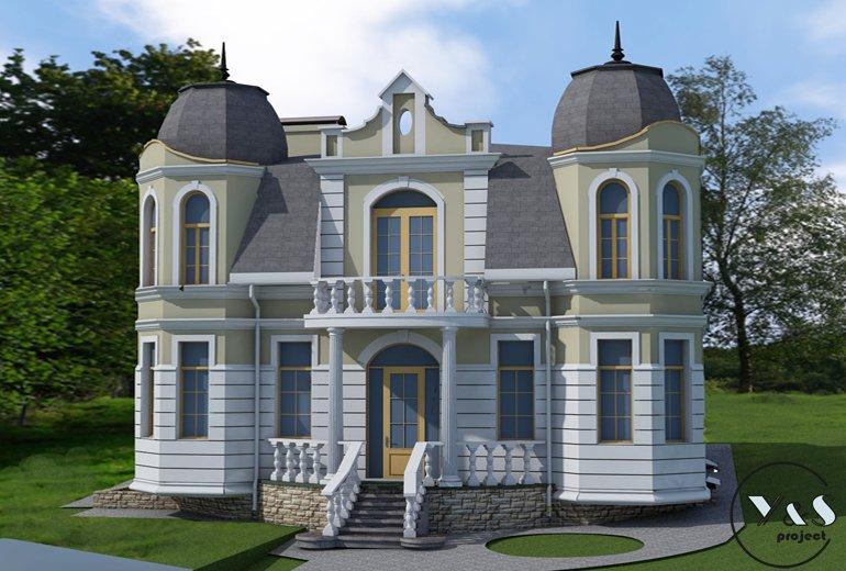 Фасад будинку в класичному стилі