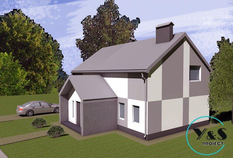 Дизайн фасаду будинку фото