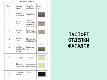 Паспорт отделки фасадов дома